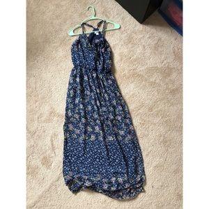 XHILARATION BLUE FLORAL MAXI DRESS